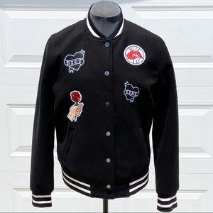 H&M Black and White Varsity Jacket